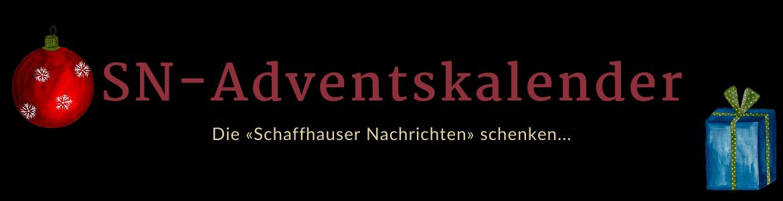 Kopfgrafik mit Text: Adventskalender - die «Schaffhauser Nachrichten» schenken