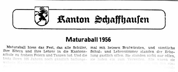 Maturaball 1956