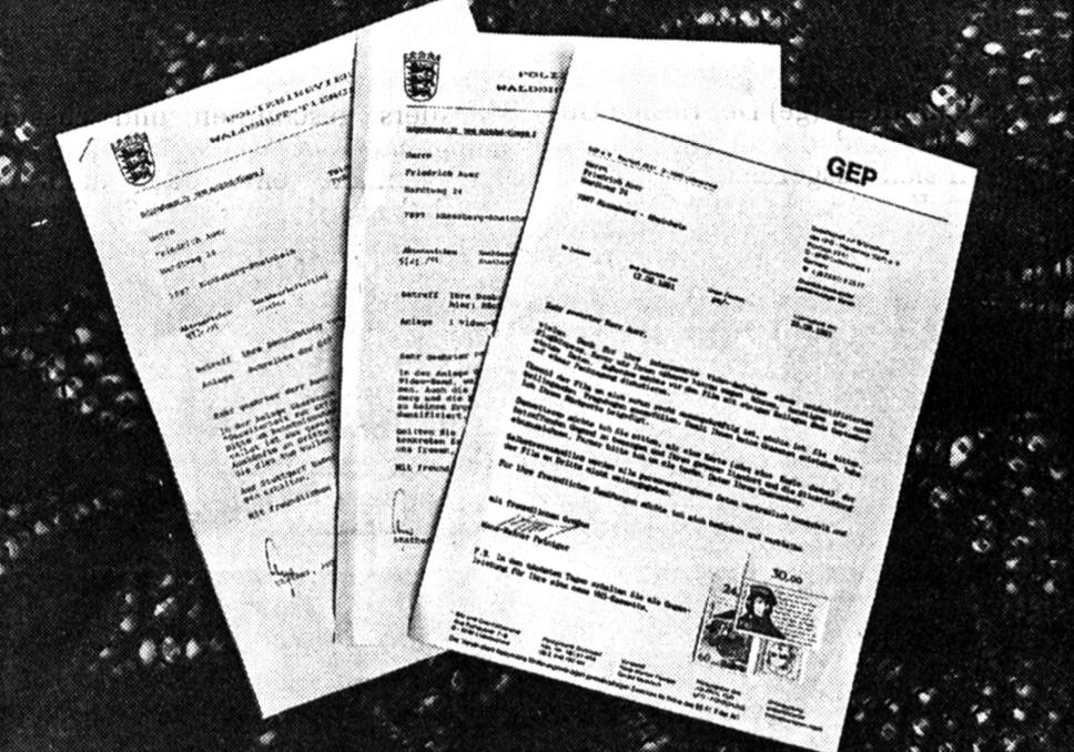 Reger Briefwechsel zwischen den Auers und der GEP. Bild: SN Archiv