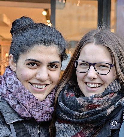 Kanar Nasradin (l.) und Lea Hurter, Schaffhausen