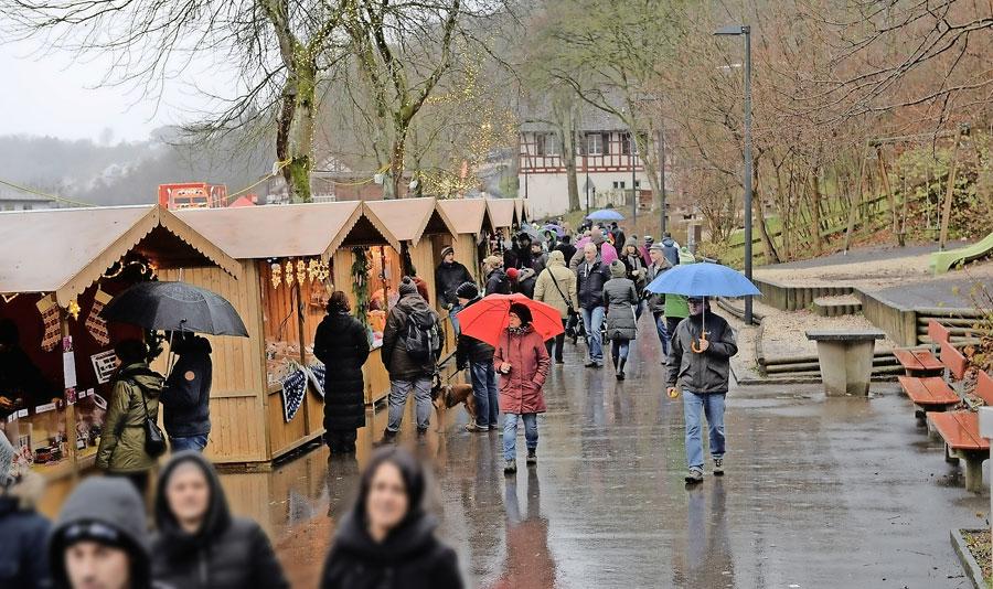Weihnachtsmarkt am Rheinfall