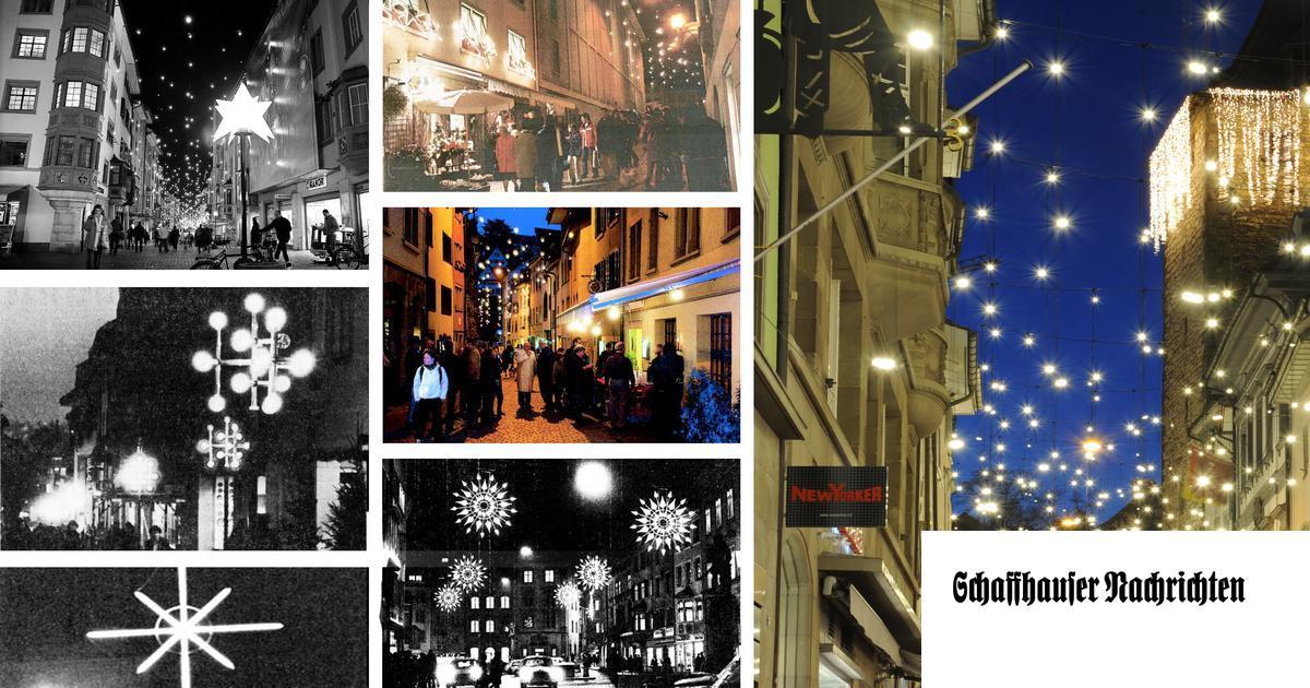Wann Macht Man Die Weihnachtsbeleuchtung An.Als Es In Schaffhausen Das Erste Mal Weihnachtlich Leuchtete
